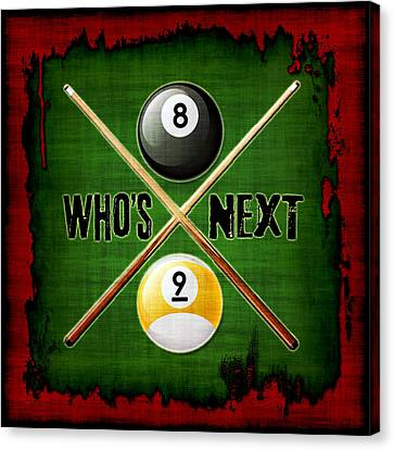 Who's Next Billiards Canvas Print