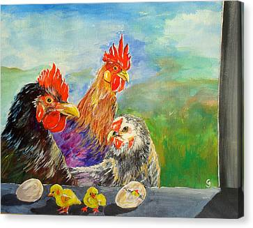Whose Egg Isthat Canvas Print