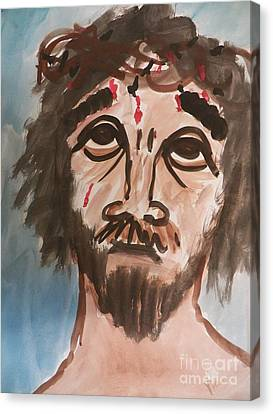 Why Have You Forsaken Me Canvas Print by Judy Via-Wolff