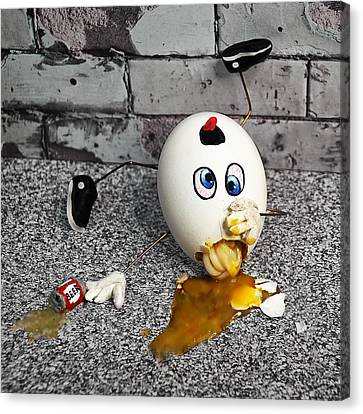 Mother Goose Canvas Print - Why Humpty Fell by Rick Mosher
