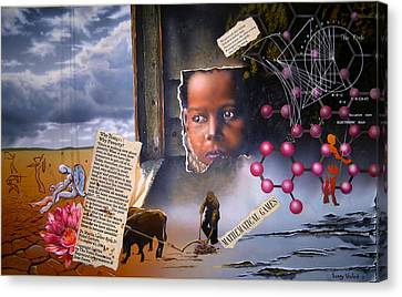 Why Hunger? Why Poverty? Canvas Print by Sam Shacked