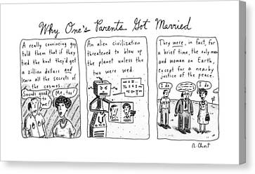 Why One's Parents Got Married: Canvas Print by Roz Chast