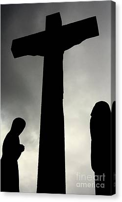 Crucifix Art Canvas Print - Faith by Linsey Williams