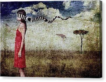Why Yes Emily I Do Like Giraffes Canvas Print by Andre Giovina