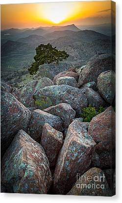 Wichita Mountains Canvas Print by Inge Johnsson