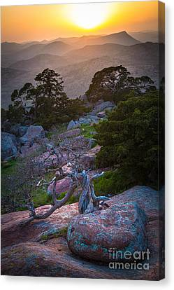 Wichita Mountains Sunset Canvas Print by Inge Johnsson