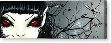 Wicked Dragonfly Fairy Canvas Print