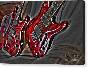 Wicked Relations Digital Guitar Art By Steven Langston Canvas Print by Steven Lebron Langston