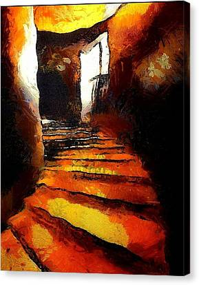 Wicked Stairs Canvas Print by Gun Legler