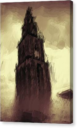 Wicked Tower Canvas Print by Ayse Deniz