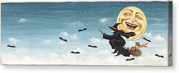 Wicked Witch Canvas Print by David Carter Brown