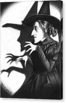 Wicked Witch Canvas Print by Marc D Lewis
