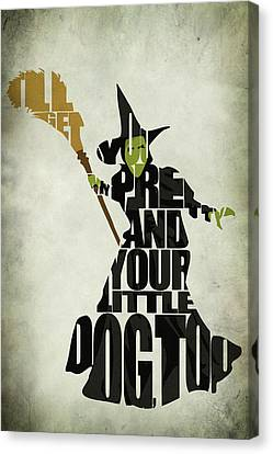 Movie Art Canvas Print - Wicked Witch Of The West by Inspirowl Design