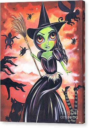 Wicked Witch Of The West Canvas Print by Jaz Higgins