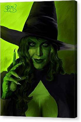 Wicked Witch Of The West Canvas Print by Mark Spears