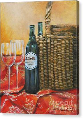 Wicker And Wine Canvas Print