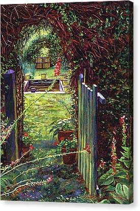 Wicket Garden Gate Canvas Print by David Lloyd Glover