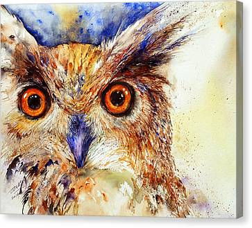 Wide Eyed_ The Owl Canvas Print