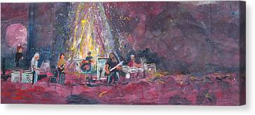 Widespread Panic Painted Live  Canvas Print by David Sockrider