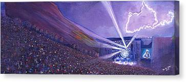 Widespread Panic Redrocks Lighting Canvas Print by David Sockrider