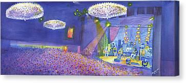 Widespread Panic Wood Tour At Fillmore Auditorium Denver Canvas Print by David Sockrider