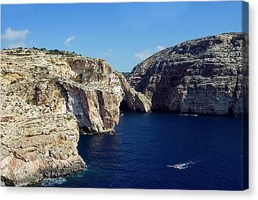 Wied Iz Zurrieq, Aerial View, Malta Canvas Print