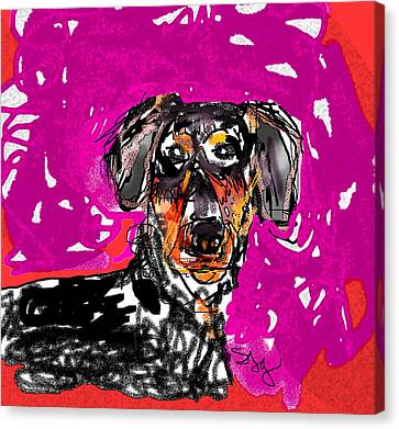Wiener Dog Canvas Print