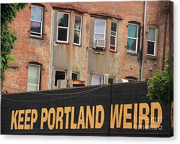 Weird And Wonderful Portland Canvas Print by Kris Hiemstra