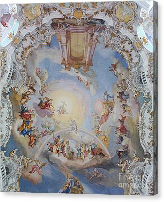 Wies Pilgrimage Church Bavaria Fresko Canvas Print by Rudi Prott