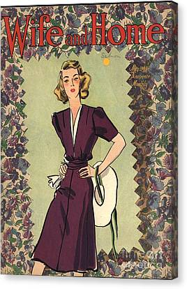 Wife And Home 1940s Uk Womens Magazines Canvas Print by The Advertising Archives
