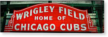 Wrigley Field Sign -- No.3 Canvas Print by Stephen Stookey