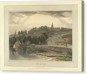 Wigton Harbour In Galloway Canvas Print by British Library