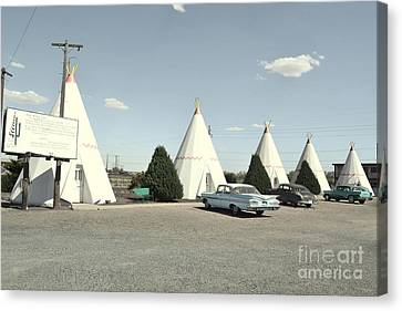 Canvas Print featuring the photograph Wigwams In Arizona by Utopia Concepts