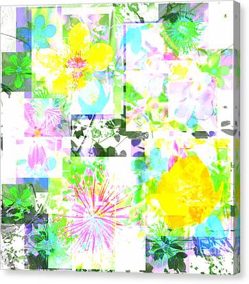 Wild About Flowers Canvas Print by Barbara Moignard
