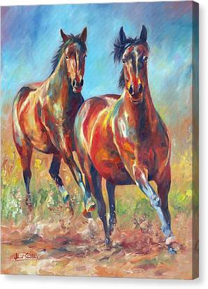 Wild And Free Canvas Print by David Stribbling