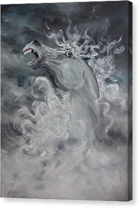 Canvas Print featuring the painting Wild And Free by Jean Walker