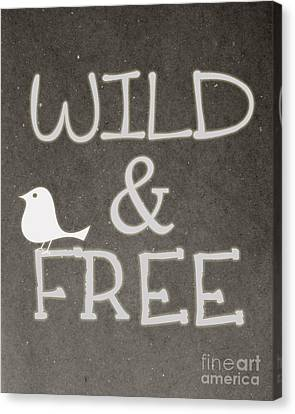 Wild And Free Canvas Print by Pati Photography