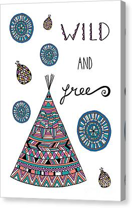 Wild And Free Canvas Print by Susan Claire