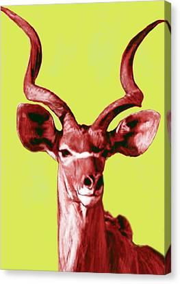 Wild Animal Stylised Pop Art Drawing Potrait Poser Canvas Print by Kim Wang