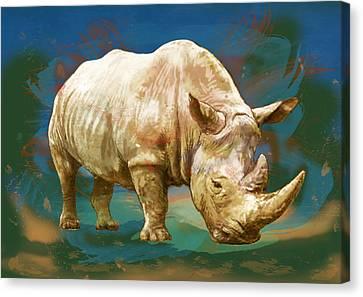 Wild Animal Stylised Pop Art Drawing Potrait Poster Canvas Print by Kim Wang
