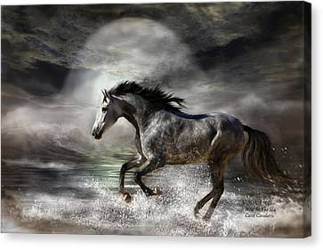 Wild As The Sea Canvas Print by Carol Cavalaris