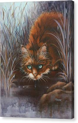 Canvas Print featuring the painting Wild At Heart by Cynthia House