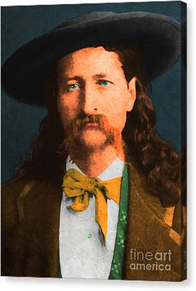 Wild Bill Hickok 20130518 Canvas Print by Wingsdomain Art and Photography