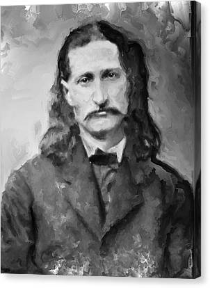 Wild Bill Hickok - American Gunfighter Legend Canvas Print by Daniel Hagerman