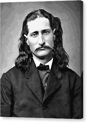 Wild Bill Hickok Grayscale Canvas Print