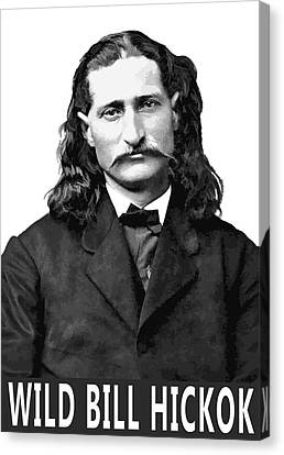 Wild Bill Hickok Old West Legend Canvas Print by Daniel Hagerman