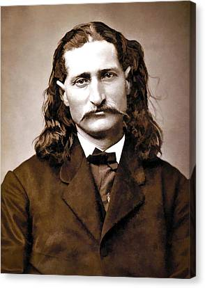 Wild Bill Hickok Painterly Canvas Print by Daniel Hagerman