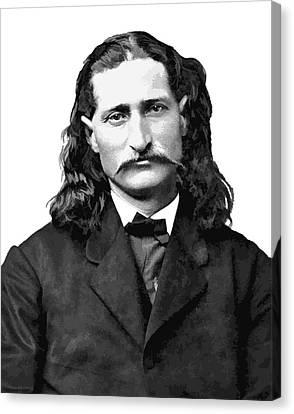 Wild Bill Hickok White Background Canvas Print by Daniel Hagerman