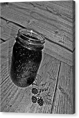 Wild Blackberry Bw Canvas Print by Kevin D Davis