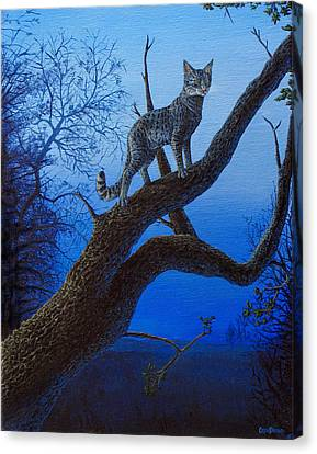 Wild Blue Canvas Print by Cara Bevan